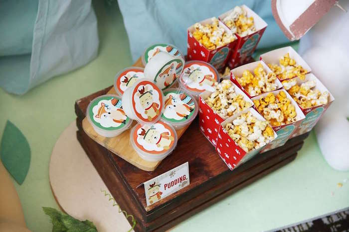 Pudding cups + snack boxes from a Tribal Indian Camping Party on Kara's Party Ideas   KarasPartyIdeas.com (16)