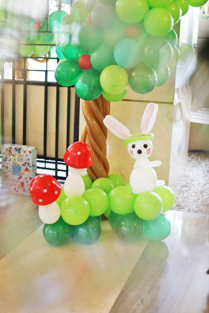 Woodland balloon arch from a Tribal Indian Camping Party on Kara's Party Ideas   KarasPartyIdeas.com (7)