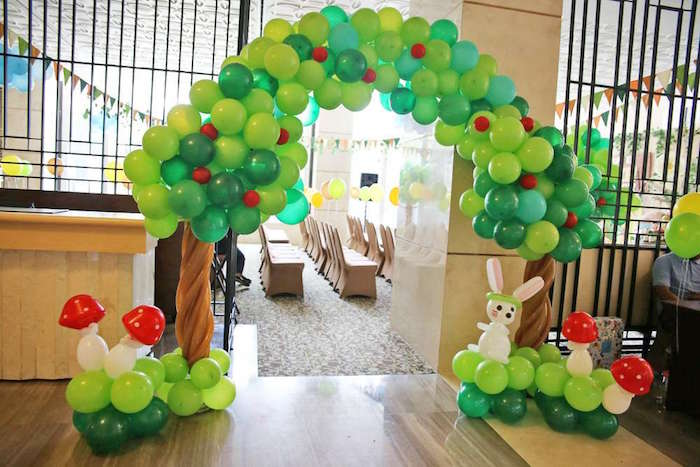 Balloon arch from a Tribal Indian Camping Party on Kara's Party Ideas   KarasPartyIdeas.com (6)