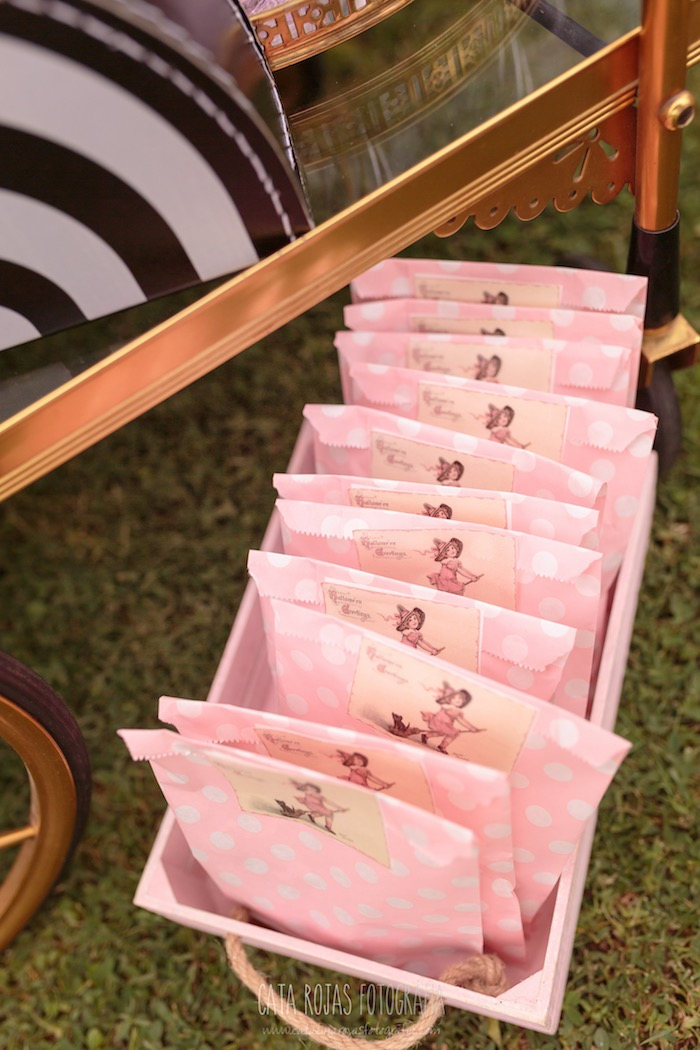 Pink polka dot snack bags from a Trick or Treat in Halloween Party on Kara's Party Ideas | KarasPartyIdeas.com (21)