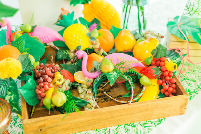 Tropical headdress' from a Tropical FOURest Birthday Party on Kara's Party Ideas | KarasPartyIdeas.com (35)