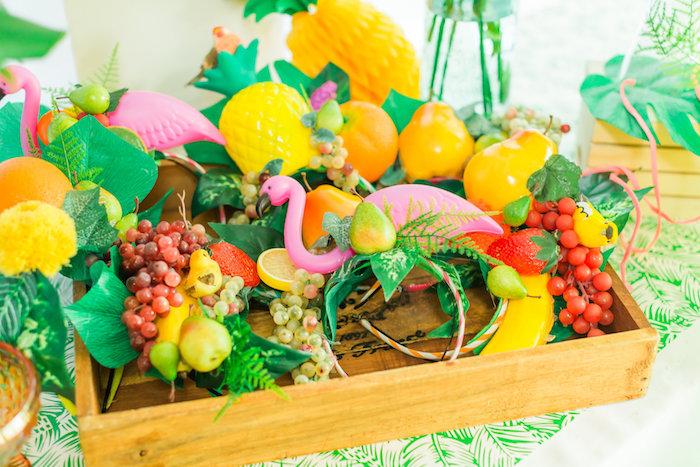 Tropical headdress' from a Tropical FOURest Birthday Party on Kara's Party Ideas | KarasPartyIdeas.com (35)
