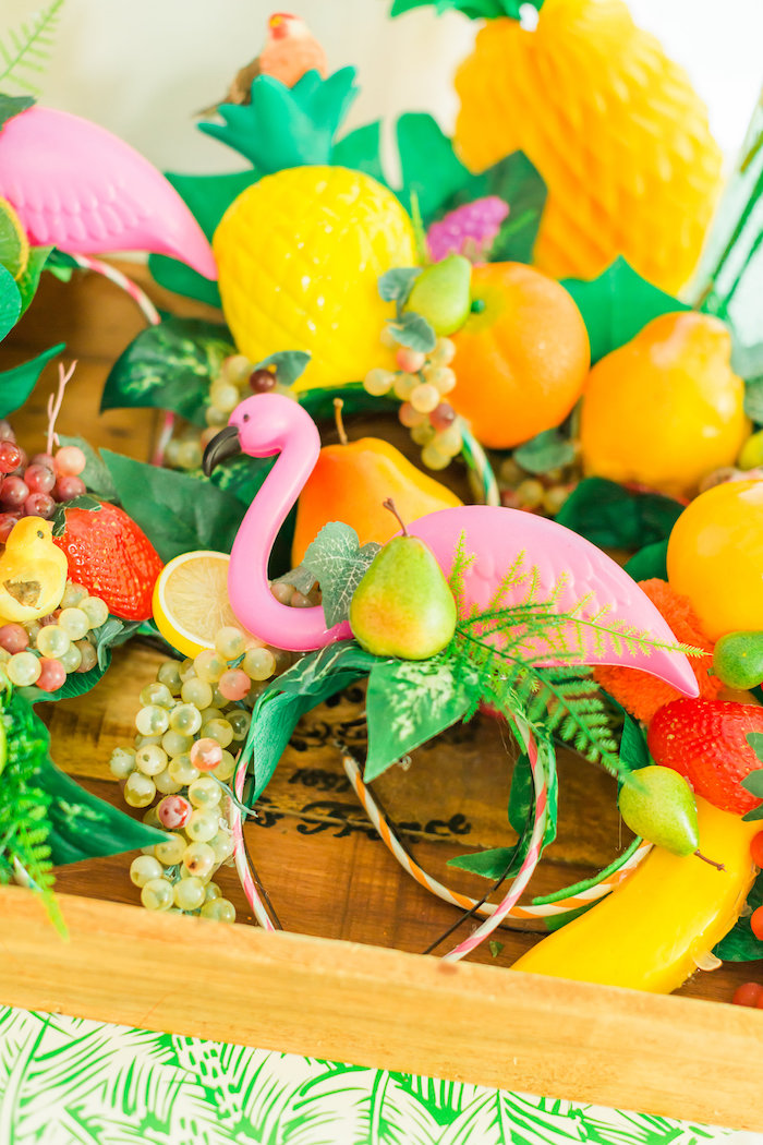 Tropical headdress from a Tropical FOURest Birthday Party on Kara's Party Ideas | KarasPartyIdeas.com (34)