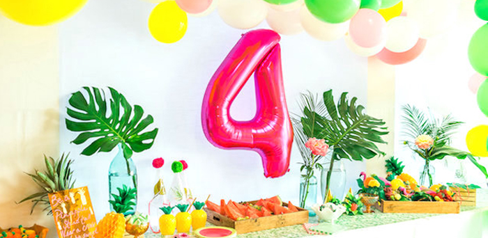 Tropical FOURest Birthday Party on Kara's Party Ideas | KarasPartyIdeas.com (1)