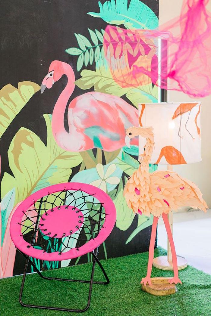Flamingo prop from a Tropical Flamingo Paradise Party on Kara's Party Ideas | KarasPartyIdeas.com (16)