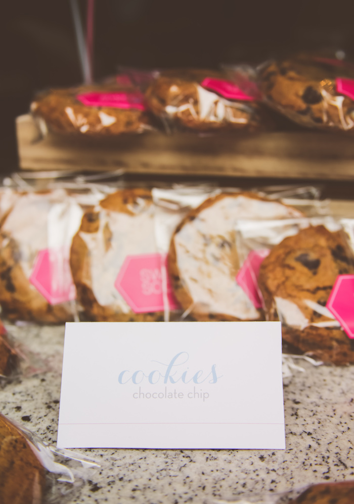 Cookies + sweet label from an Urban Gender Reveal Party on Kara's Party Ideas | KarasPartyIdeas.com (18)