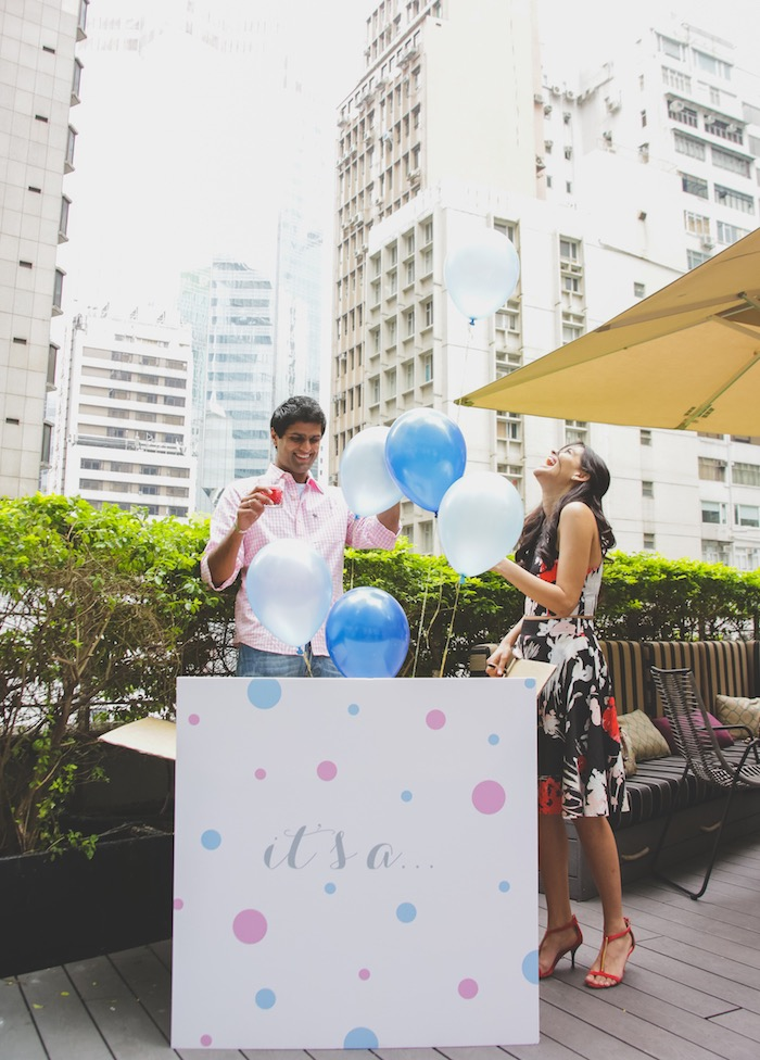 Gender Reveal from an Urban Gender Reveal Party on Kara's Party Ideas | KarasPartyIdeas.com (3)