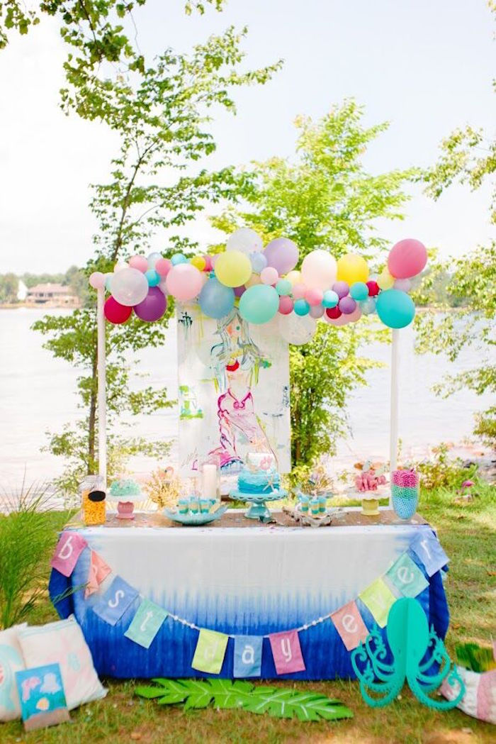 Watercolor Mermaid Birthday Party on Kara's Party Ideas | KarasPartyIdeas.com (44)
