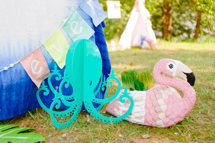 Decorations from a Watercolor Mermaid Birthday Party on Kara's Party Ideas | KarasPartyIdeas.com (41)