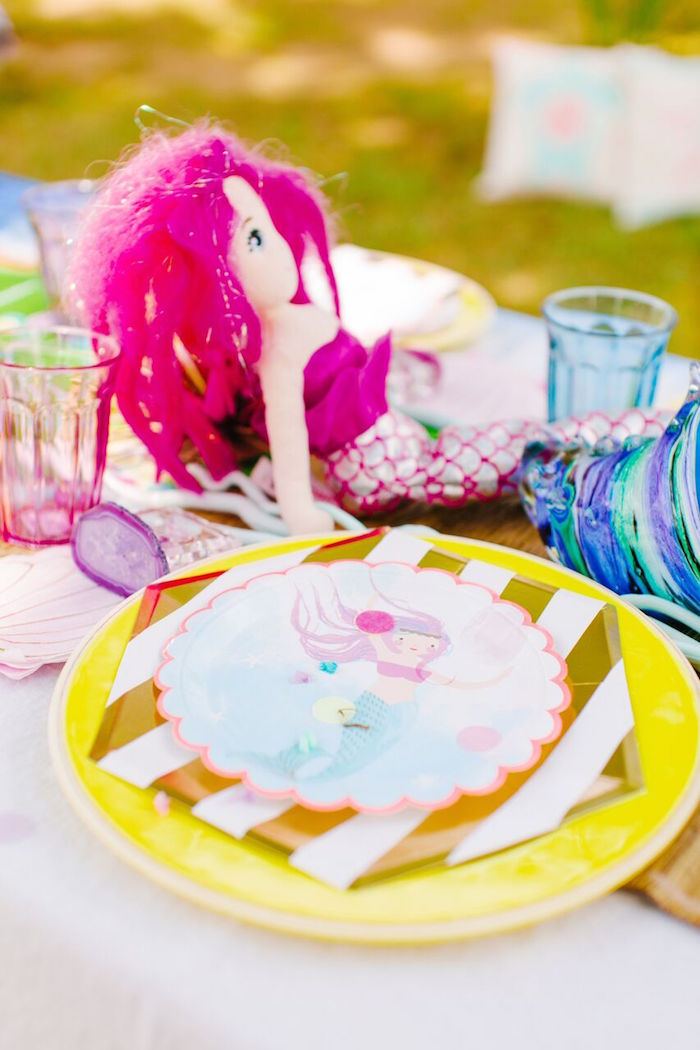 Kara S Party Ideas Watercolor Mermaid Birthday Party