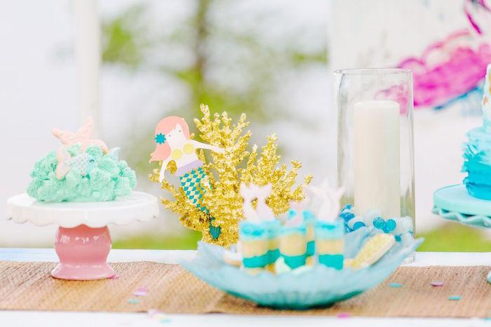 Watercolor Mermaid Birthday Party on Kara's Party Ideas | KarasPartyIdeas.com (28)