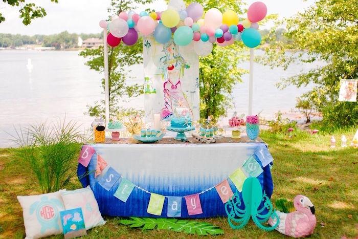 Watercolor Mermaid Birthday Party on Kara's Party Ideas | KarasPartyIdeas.com (52)