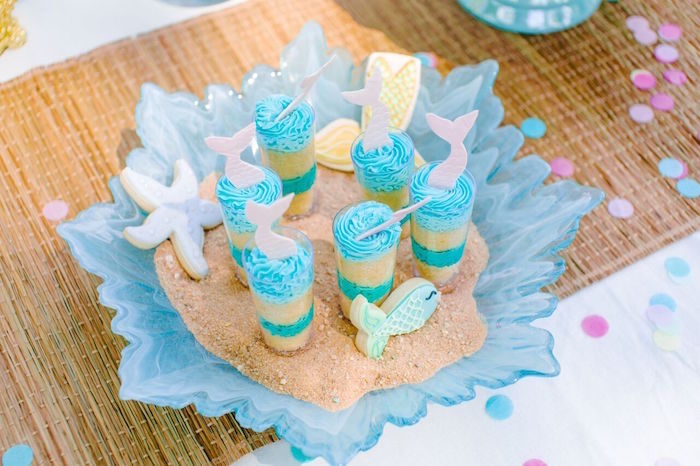Cake shooters from a Watercolor Mermaid Birthday Party on Kara's Party Ideas | KarasPartyIdeas.com (24)