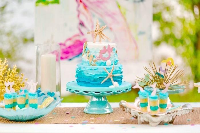 Watercolor Mermaid Birthday Party on Kara's Party Ideas | KarasPartyIdeas.com (19)