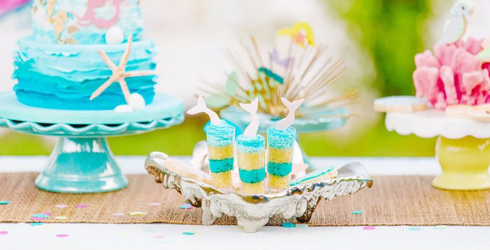 Watercolor Mermaid Birthday Party on Kara's Party Ideas | KarasPartyIdeas.com (2)
