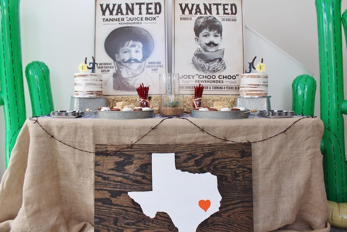 Dessert table front from a Western Rodeo Birthday Party on Kara's Party Ideas | KarasPartyIdeas.com (14)