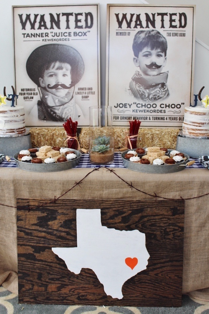 Kara S Party Ideas Western Rodeo Birthday Party Kara S