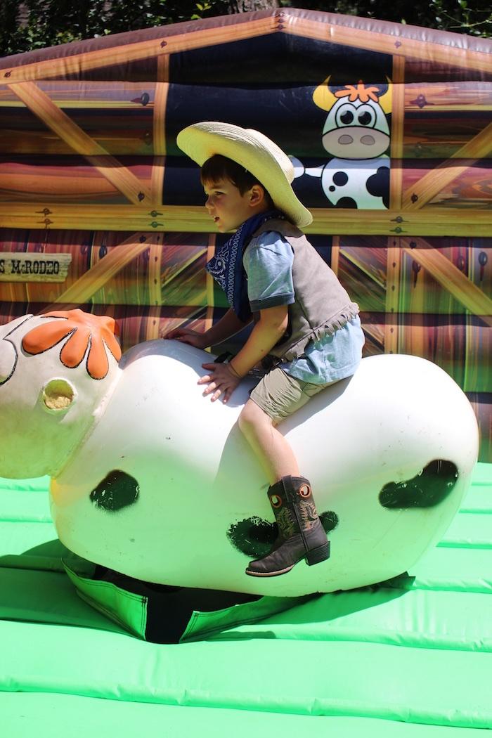 Mechanical Bull from a Western Rodeo Birthday Party on Kara's Party Ideas | KarasPartyIdeas.com (9)