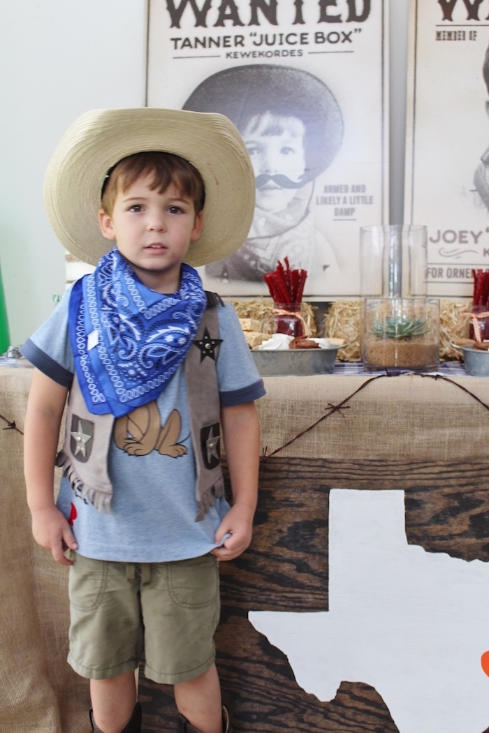Birthday Cowboy from a Western Rodeo Birthday Party on Kara's Party Ideas | KarasPartyIdeas.com (4)