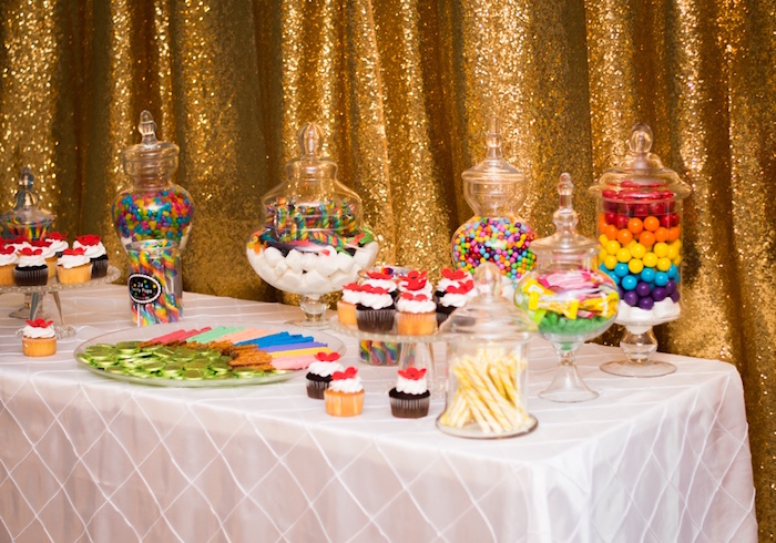 Candy + sweet buffet from a Wizard of Oz Birthday Party on Kara's Party Ideas | KarasPartyIdeas.com (20)