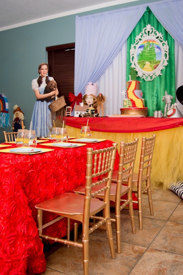 Party tables from a Wizard of Oz Birthday Party on Kara's Party Ideas | KarasPartyIdeas.com (15)