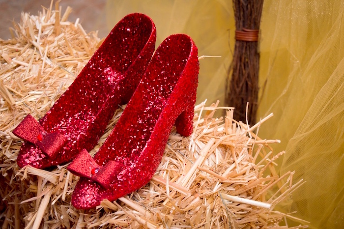Dorothy's Shoes from a Wizard of Oz Birthday Party on Kara's Party Ideas | KarasPartyIdeas.com (13)