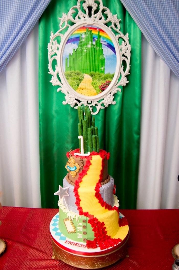 Cake table from a Wizard of Oz Birthday Party on Kara's Party Ideas | KarasPartyIdeas.com (12)