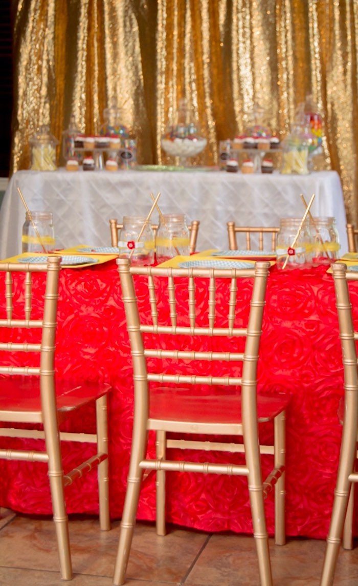 Gold chiavari chairs from a Wizard of Oz Birthday Party on Kara's Party Ideas | KarasPartyIdeas.com (11)