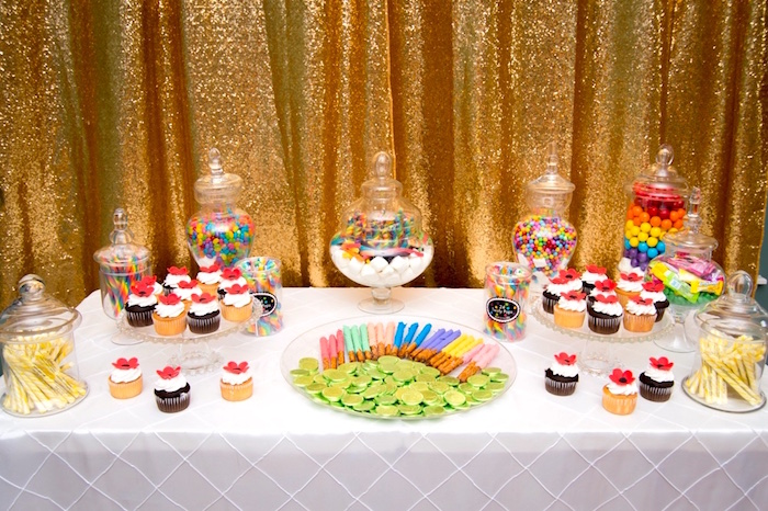 Sweet and candy buffet from a Wizard of Oz Birthday Party on Kara's Party Ideas | KarasPartyIdeas.com (8)