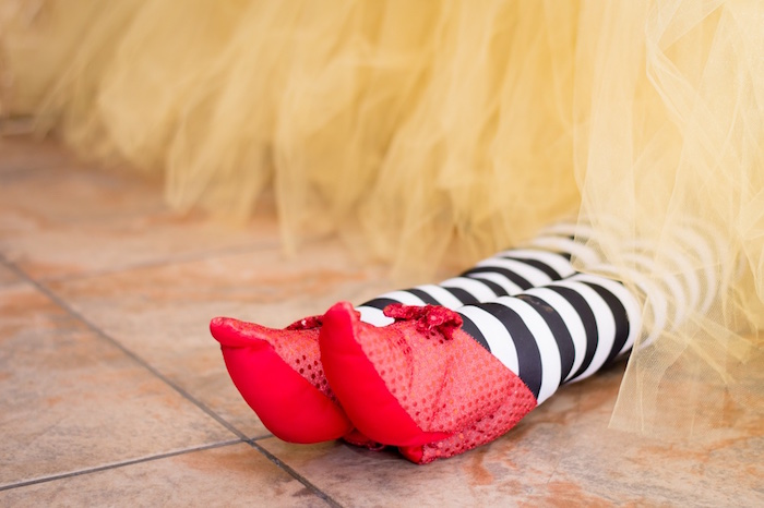 Witch feet from a Wizard of Oz Birthday Party on Kara's Party Ideas | KarasPartyIdeas.com (4)
