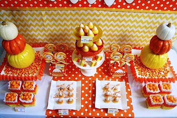 Party table from Candy Corn Bash via Kara's Party Ideas