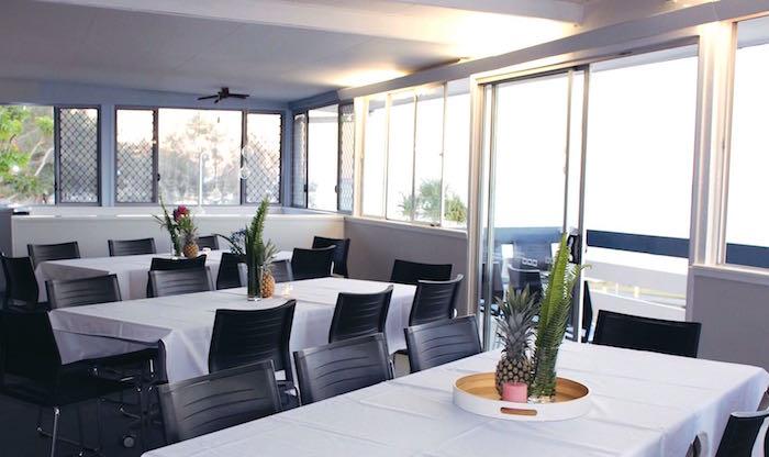 Guest tables from a 40th Birthday Tropical Soiree on Kara's Party Ideas   KarasPartyIdeas.com (4)