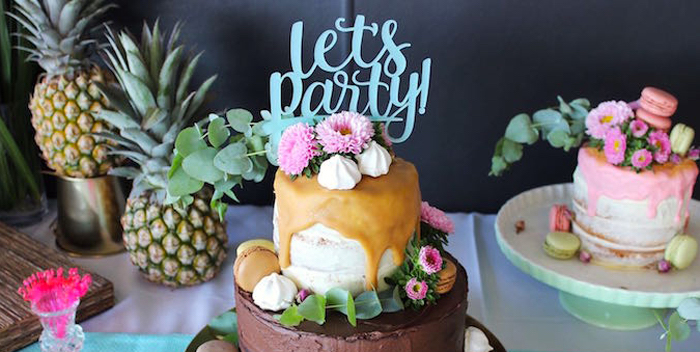 40th Birthday Tropical Soiree on Kara's Party Ideas | KarasPartyIdeas.com (1)