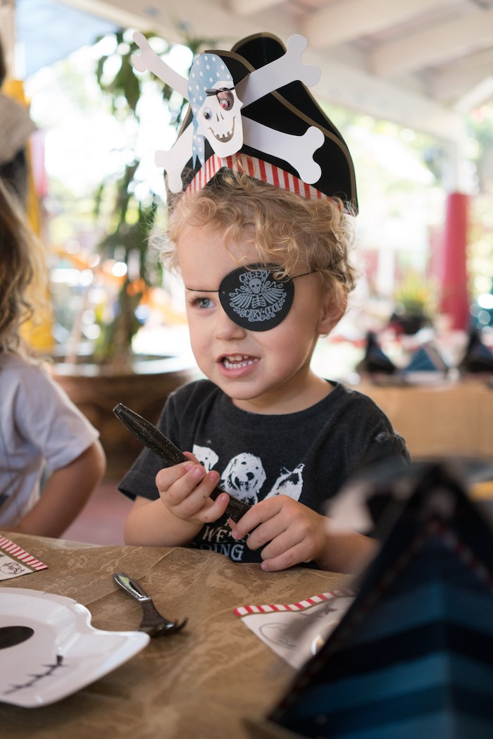 Kara S Party Ideas Pirate S Life For Three Birthday Party