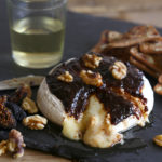 Fig & Balsamic Baked Brie Recipe via Kara's Party Ideas