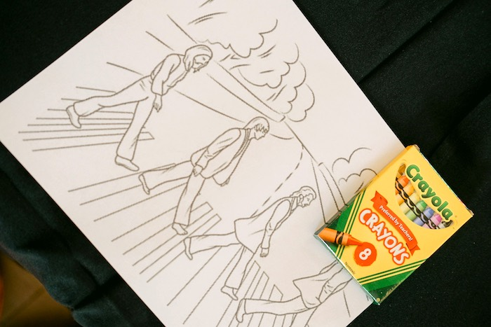 Beatles coloring page & crayons from a Beatles Birthday Party on Kara's Party Ideas | KarasPartyIdeas.com (20)