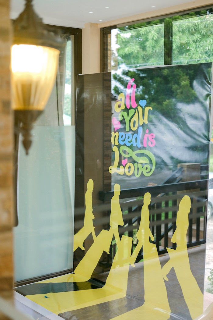 Beatles window sign from a Beatles Birthday Party on Kara's Party Ideas | KarasPartyIdeas.com (3)