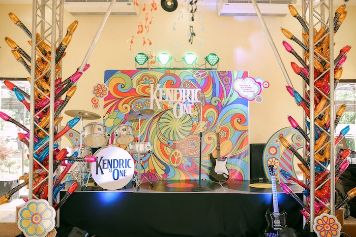 Beatles Band stage from a Beatles Birthday Party on Kara's Party Ideas | KarasPartyIdeas.com (26)