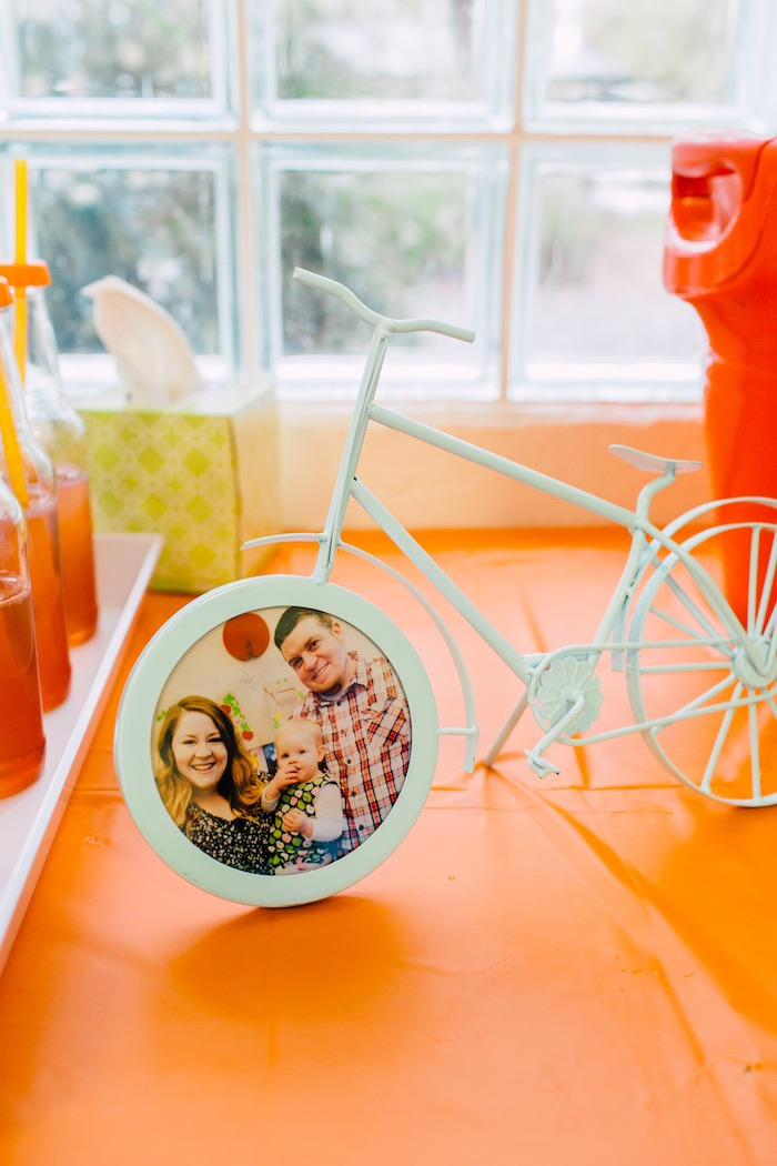 Bicycle photo frame from a Bike Themed Birthday Party on Kara's Party Ideas | KarasPartyIdeas.com (28)
