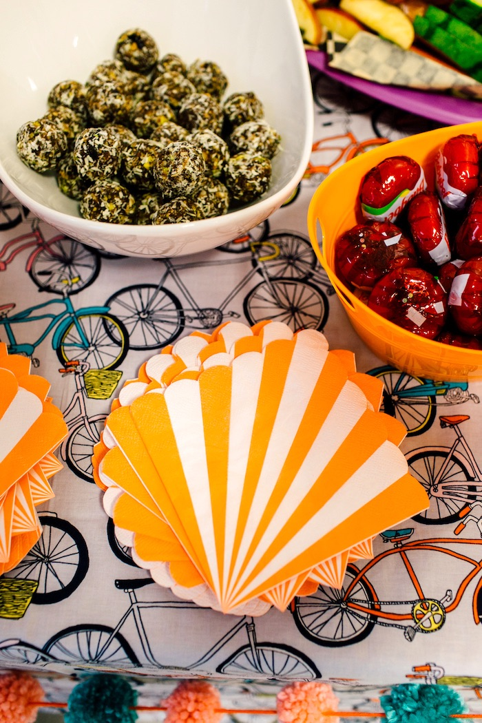 Food table from a Bike Themed Birthday Party on Kara's Party Ideas | KarasPartyIdeas.com (24)