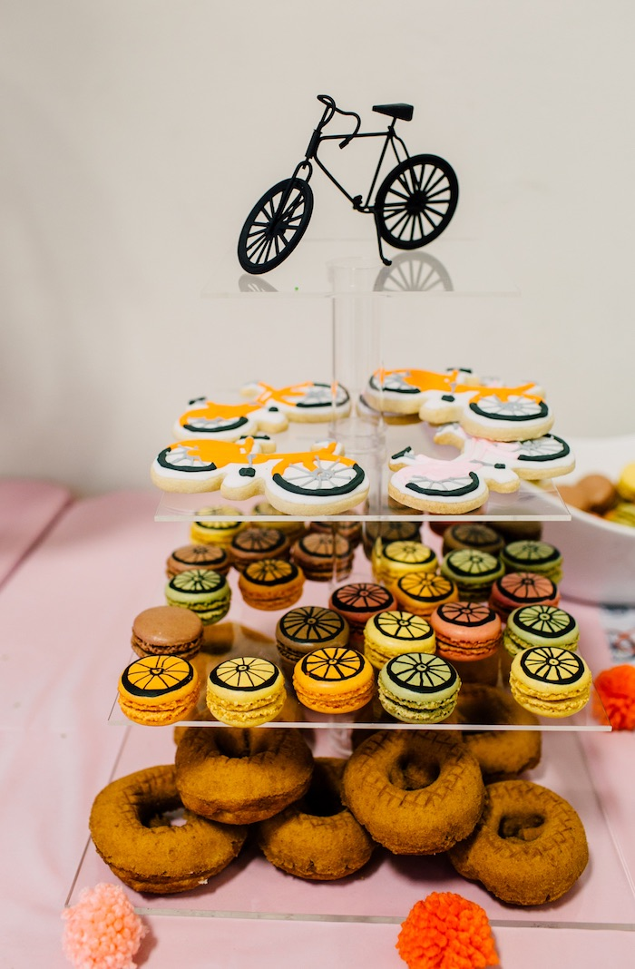 Bicycle sweets from a Bike Themed Birthday Party on Kara's Party Ideas | KarasPartyIdeas.com (21)