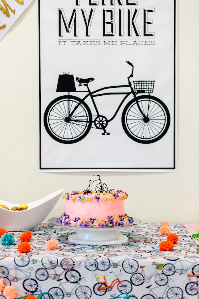 Incredible Karas Party Ideas Adorable Bike Themed Birthday Party Karas Funny Birthday Cards Online Overcheapnameinfo