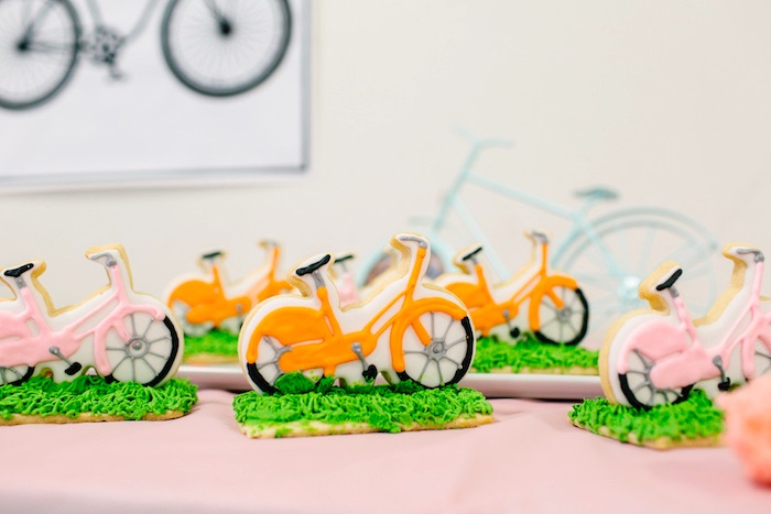 Bicycle cookies from a Bike Themed Birthday Party on Kara's Party Ideas | KarasPartyIdeas.com (17)