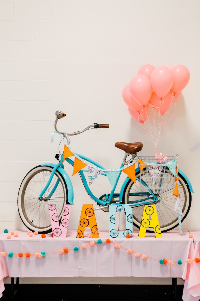 Vintage bicycle from a Bike Themed Birthday Party on Kara's Party Ideas | KarasPartyIdeas.com (12)