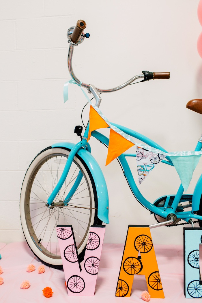 Vintage bicycle from a Bike Themed Birthday Party on Kara's Party Ideas | KarasPartyIdeas.com (11)