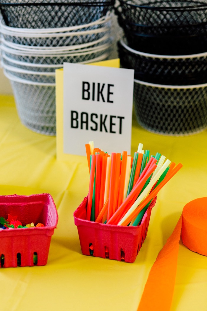 Bike spoke decor from a Bike Themed Birthday Party on Kara's Party Ideas | KarasPartyIdeas.com (36)