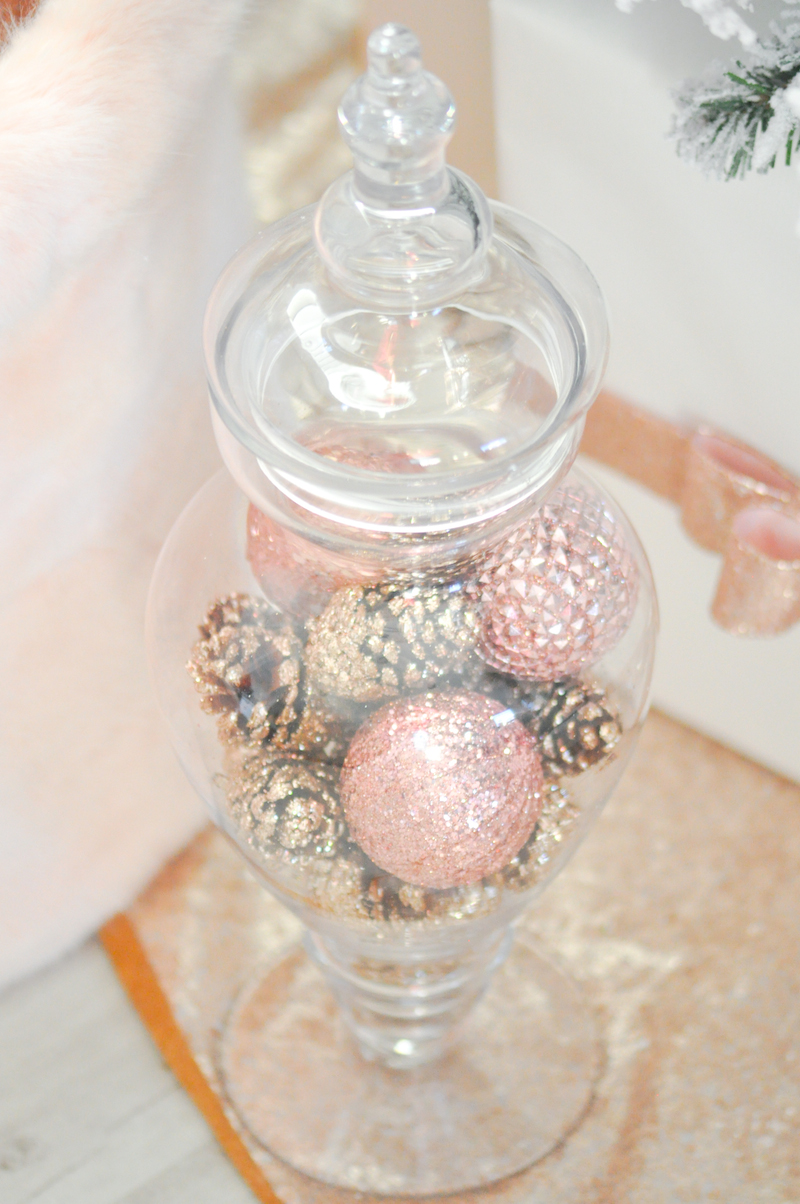 Blush pink vintage inspired Christmas tree by Kara's Party Ideas | Kara Allen for Michaels