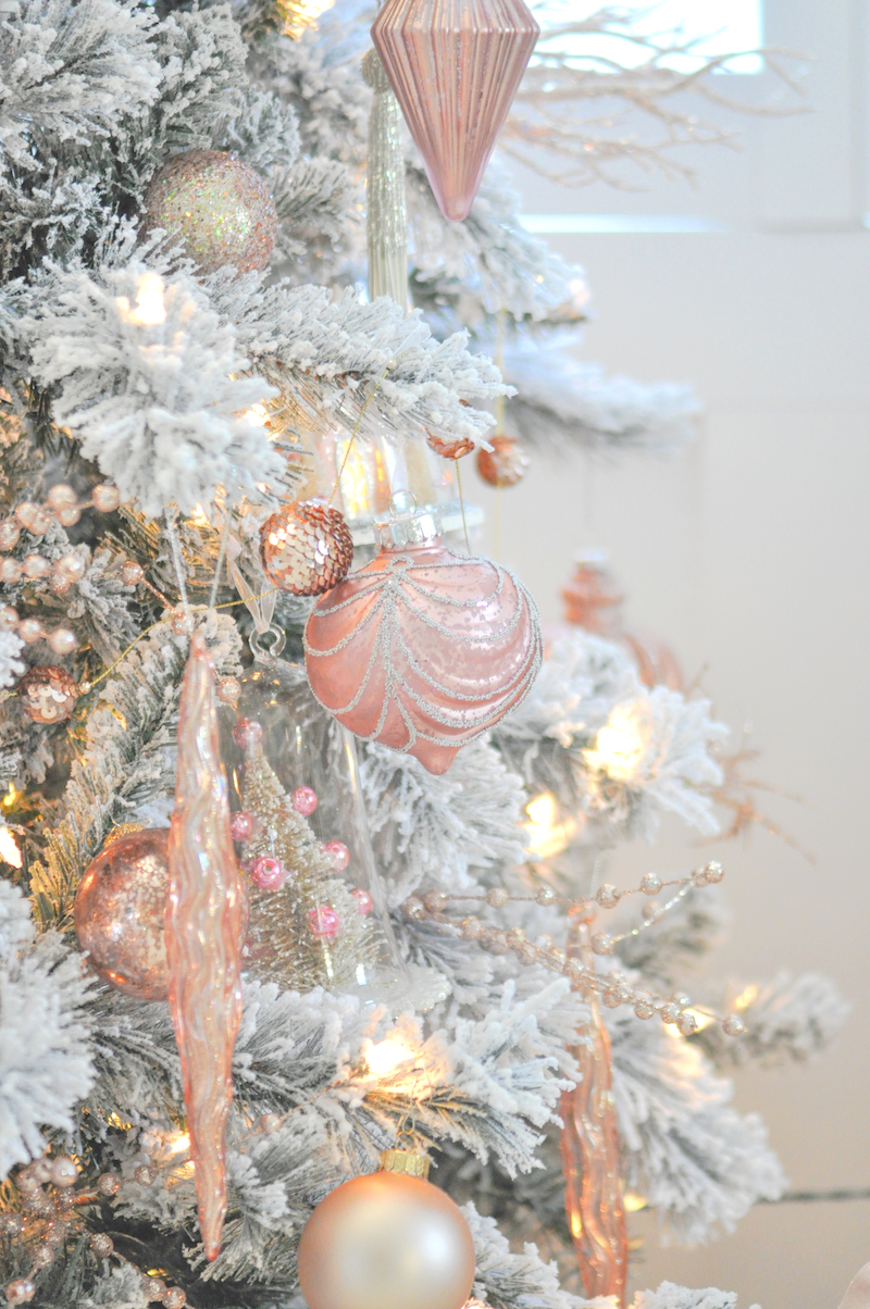Kara 39 s party ideas blush pink vintage inspired tree for Michaels christmas tree ornaments