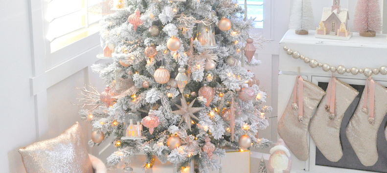 karas party ideas blush pink vintage inspired tree michaels dream tree challenge 2016 karas party ideas - Christmas Trees At Michaels