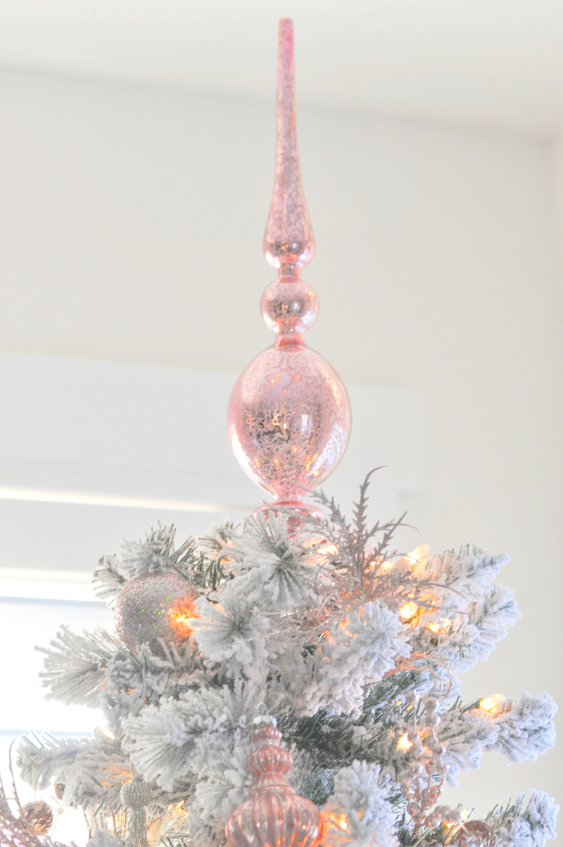 Kara 39 s party ideas blush pink vintage inspired tree for Michaels crafts christmas ornaments
